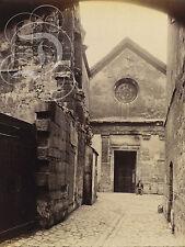 REPRO PHOTO EUGENE ATGET SAINT JULIEN LE PAUVRE 1898 PANNEAU MURAL EN BOIS HDF