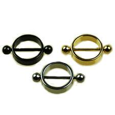 Brust Piercing Ring Brustwarzen Piercing Ring Silber Gold Schwarz