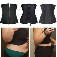 Plus Size Corset Body Shaper Latex Waist Trainer Underbust Zipper Waist Cincher