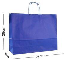 Royal Blue Landscape Large Paper Party Gift Bags ~ Boutique Shop Bag