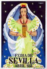 Vintage Seville Festival 1955 Tourism Poster A3 Print