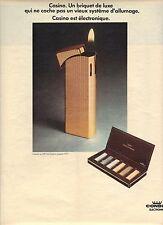 PUBLICITE  1970  CONSUL ELECTRONIQUE Casino un briquet de luxe