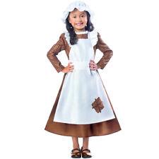 Kids Victorian Girl Costume Fancy Dress Poor Historical Urchin 3-10 Years Amscan