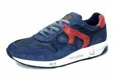 Dockers by Gerli Schnür Sneaker 40BR001-207667 blau rot navy/red Logo Leder NEU
