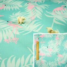 PINK GREEN Fat Quarter/Meter/FQ Cotton Sewing Craft Fabric Flamingo Birds Animal