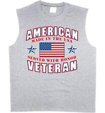 Mens sleeveless shirt army navy marines usmc veteran retired muscle tee tank top