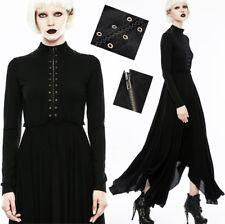 Robe longue plissée gothique punk lolita glam rock rivets bronze volant Punkrave