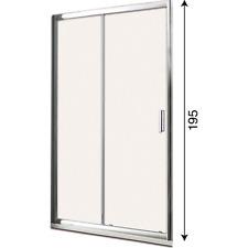 Porta cabina box doccia scorrevole per nicchia in cristallo temperato 6mm h 195