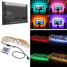 DC5V 5050 SMD RGB LED Strip Lights Back Lighting Car Kit + USB Remote Controller