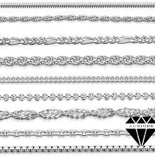 Cadena Singapur - Cordon - Barbada - Veneciana - 925 Plata - 40-75 cm 0.6-3.8 mm