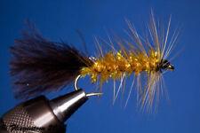 Fliegentom Streamer 3 pièces Wooley Bugger ambre