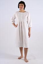 Camilla Ladies Cotton 3/4 Longsleeve Button Front Nightgown/Sleepwear/Nightie