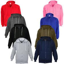 Mens Hoodies True Face Fleece Plain Sweatshirt Hooded Pullover Zip Up Top S-6XL