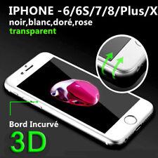 iPhone 8/7/6/6S/X + Film protection d'écran Total Intégral VITRE VERRE TREMPE 3D