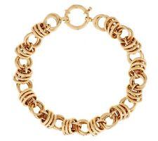 Bold Shiny Status Rolo Bracelet Real Genuine 14K Yellow Gold QVC J284150 12.5gr