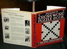Milton Goldsmith - JUNIOR CROSS-WORD PUZZLE BOOK - 1961