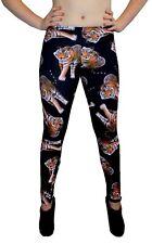 Señoras Wild Tiger Animal Printed Leggings Goth Punk Emo Gothic