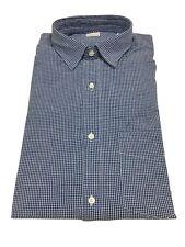 Aspesi men's shirts check white / satin blu with pocket Ridotta Ii Cc02 A330