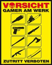 Gaming Gamer am Werk Computer-Spiele Fun Poster
