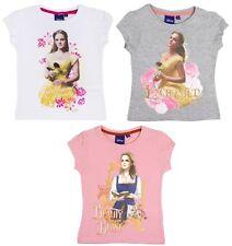 Girls Disney Princess Belle T Shirt Beauty And The Beast Short Sleeve Top Size