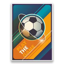 2 x Soccer Football Vinyl Stickers Sports #7321