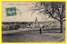 cpa 95 - VIARMES (Val d'Oise) Panorama au Printemps Animée Jardinier