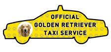 Funny Golden Retriever Dog Taxi Sevice vinyl car decal sticker Pet Animal Lover