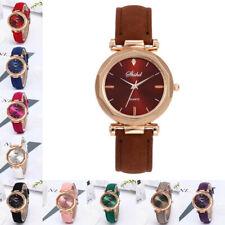 Fashion Women Leather Casual Watch Luxury Analog Quartz Crystal Wristwatch Sport