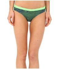Nike Womens Size Medium Large Green Blue Print Scoop Bikini Swim Bottoms NEW