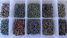 3er SET Wunschfarbe/MIX Kristall Nase Stecker STAHL ~ 2x8 x0,8mm Nase NOSE PINS