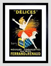 Ad alimentare PASTA TAGLIATELLE Ferrand Renaud UOVO Ballerina FRANCIA incorniciato stampa b12x6813