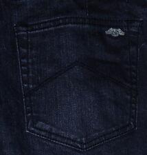 ARMANI EXCHANGE J130 Slim Fit Skinny Leg Men's Blue Black Jeans Sz 31x32 34x34
