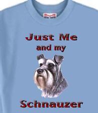 Dog T Shirt - Just Me and my  Schnauzer - Men Women Adopt Animal Cat # 59