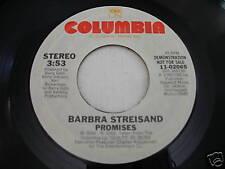 Barbra Streisand Promises 1980 45rpm VG++ PROMO