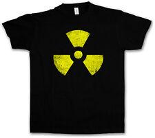 NOIR RADIOACTIFS VINTAGE à motif T-SHIRT - Gothique TBBT Cyber Hardcore Logo