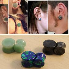 3 Pairs 6Pc Stone Ear Plugs Azurite Malachite/Green Aventurine/Picasso Jasper Us