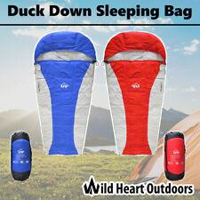 Duck Down Sleeping Bag Water Resistant Envelope Outdoor Camping Hiking