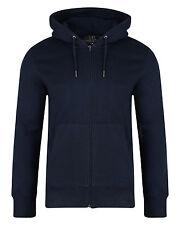 SMITH & JONES New Mens Full Zip Hooded Sweatshirt Fleece Hoodie Hoody Navy Blue