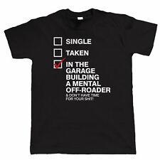 In garage a costruire una mentale Off-Roader, da Uomo Divertente 4x4 OFF viabilità T Shirt