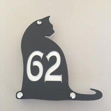 chat en forme de numéro de maison signes Grand 45cm avec chromé FIXATIONS