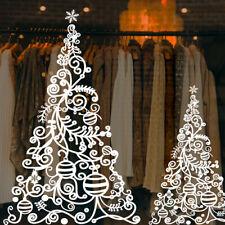 Christmas Tree Window Sticker   Christmas Window Decorations - Modern Xmas Decal