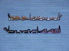 1970 70 1971 71 Plymouth 'Cuda 440 NOS MoPar Shaker Hood Emblem Pair #3462272