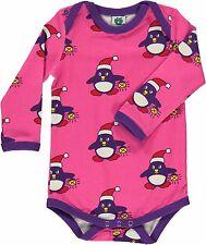 Smafolk Langarmbody Body Pinguin Winter Weihnachten pink 56 62 68 74 80 86 NEU