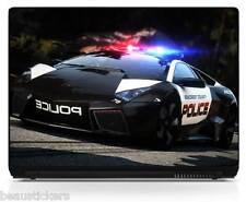 Sticker pc portable autocollant Police réf 6206