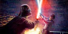 Star Wars Empire Strikes Back Epic Vader Luke Bespin Lightsaber Battle Fine Art