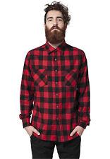 Urban Classics Checked Flanell Shirt, Holzfällerhemd für Herren, Flanellhemd