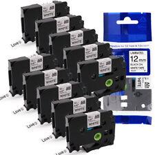 2x Ersatz kompatible Schriftbänder für Brother TZE441 Schwarz auf Rot 18mm-Easy