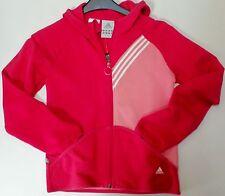 ADIDAS Sweat veste à capuche taille 164 Rouge + rose 95% coton
