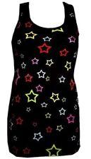 WOMEN'S MULTI STARS CUTE STAR PRINT LONG VEST TANK TOP DRESS GOTH PUNK EMO