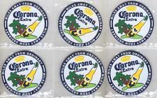 CORONA EXTRA 6 BEER BAR TOP SPILL MAT RUBBER COASTERS NEW